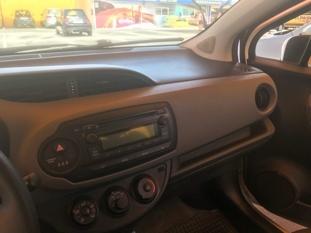 Del Paso car hire interior of vehicle