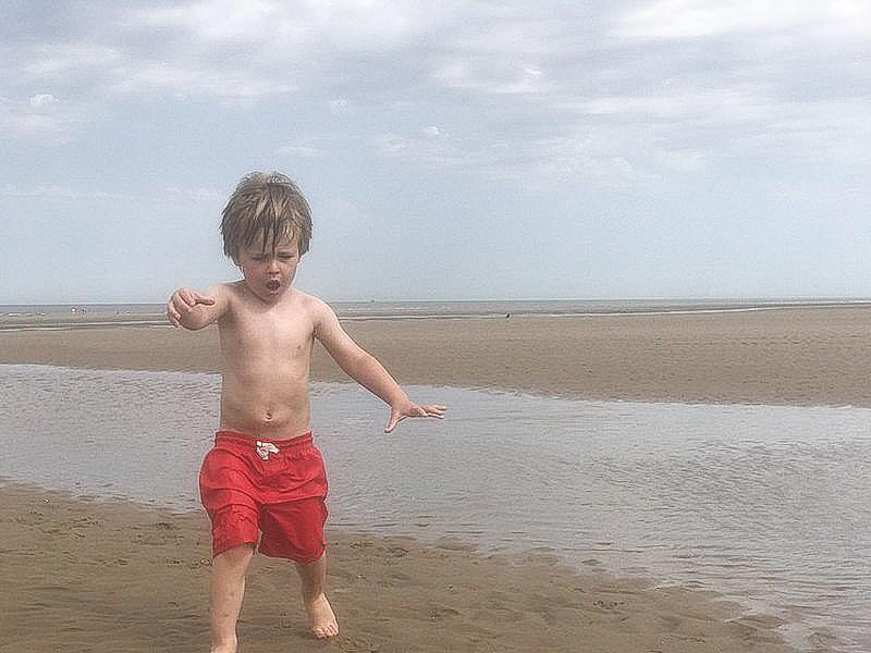 Dexter on Ainsdale beach during summer months