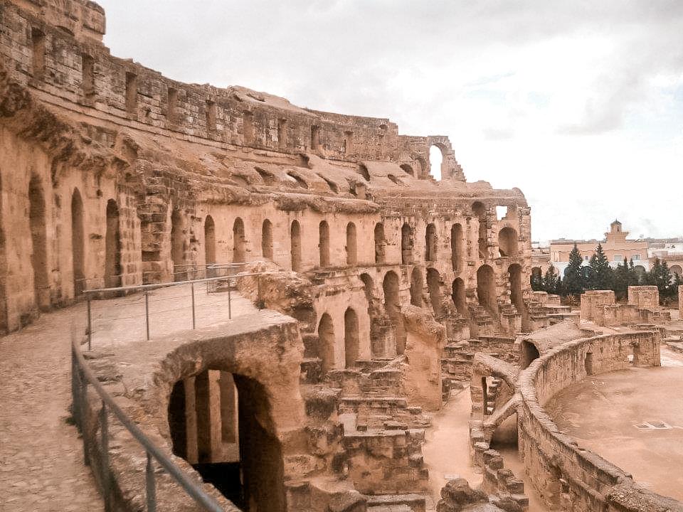 View of El Djem's amphitheatre