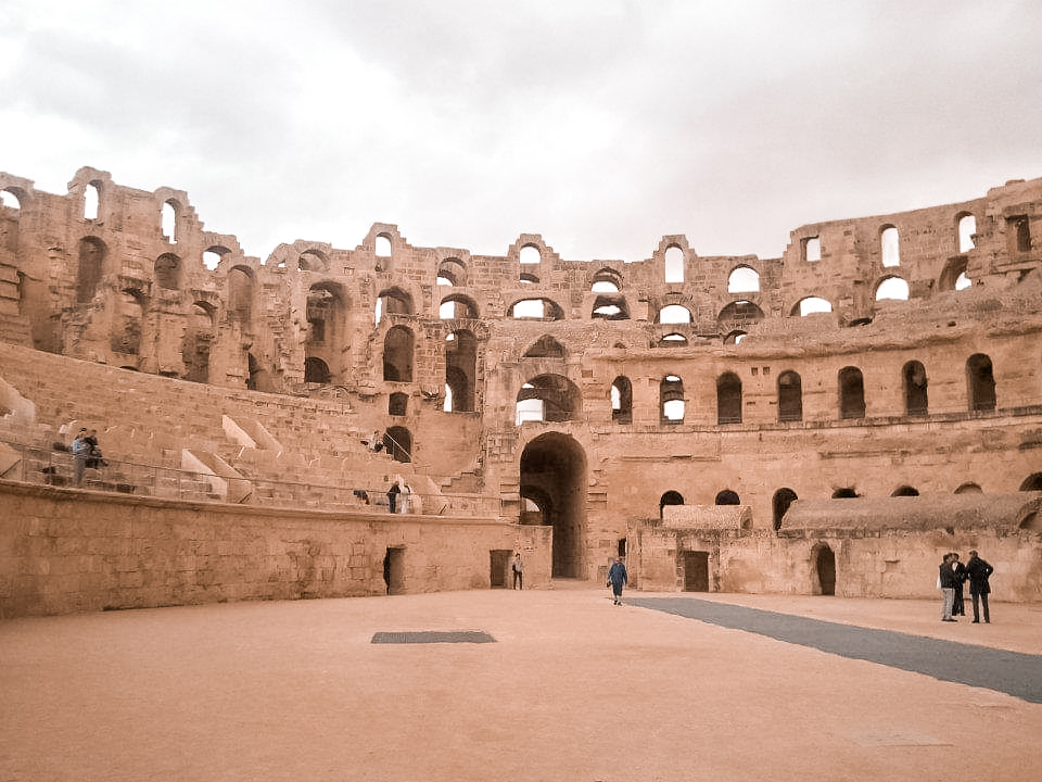 View of the amphitheatre from the arena