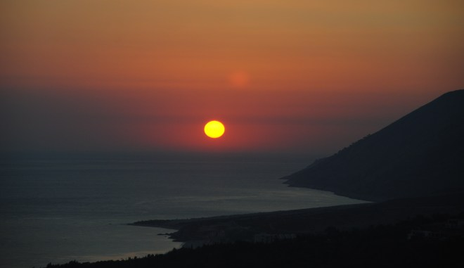 Sunset in Dhermi