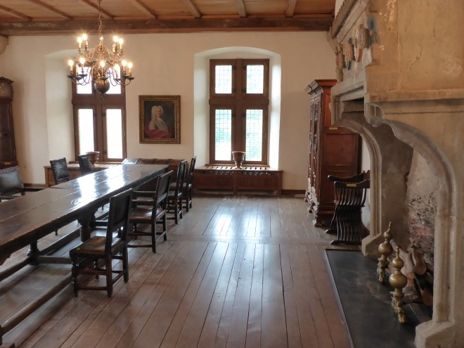 One of the rooms in the castle in Viaden in Luxembourg