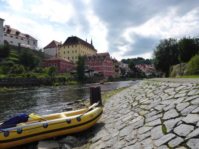 Rafting break in Cesky Krumlov
