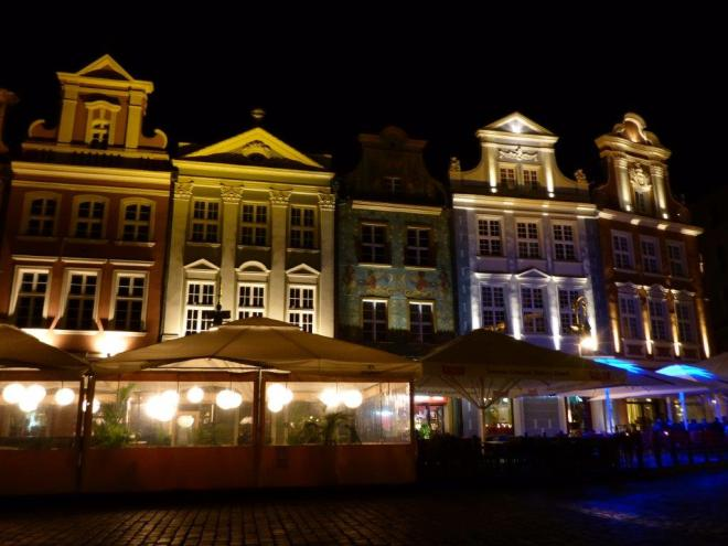 Poznan Old Market Square by night 4