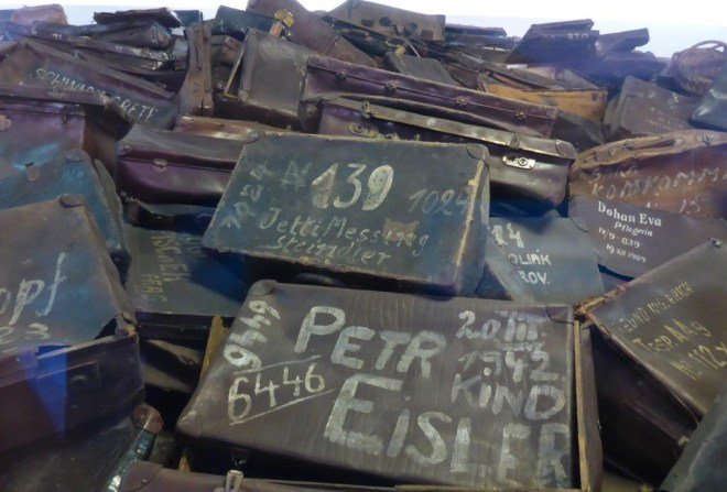Suitcases in Auschwitz