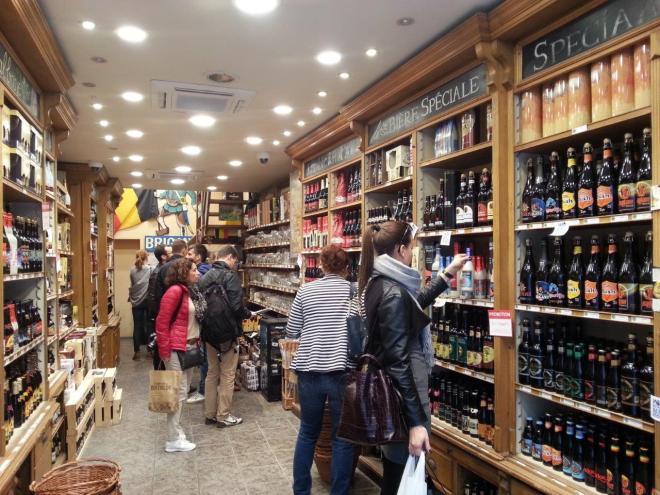 Lots of Belgian beer to choose from