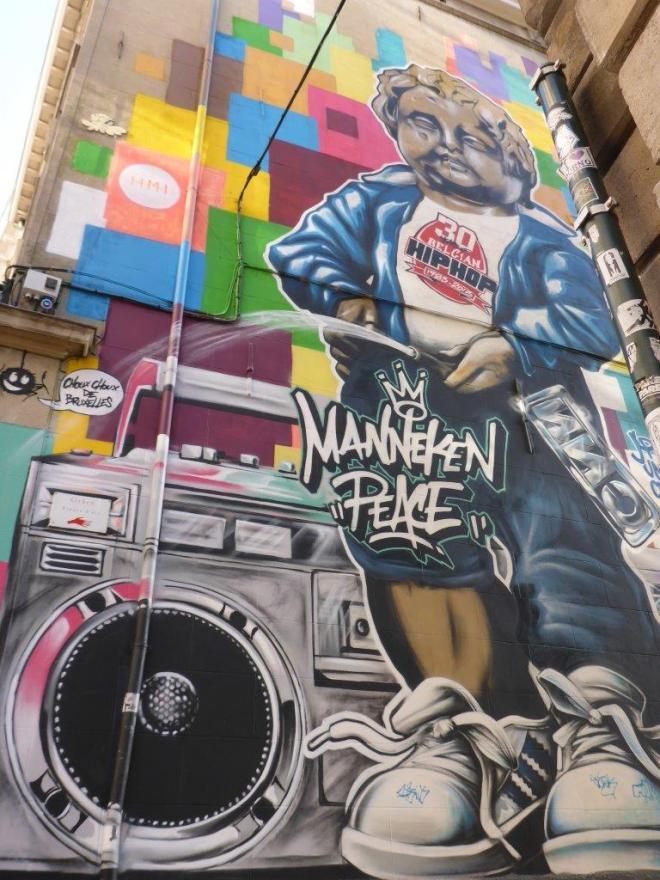 Mural in Brussels, Belgium
