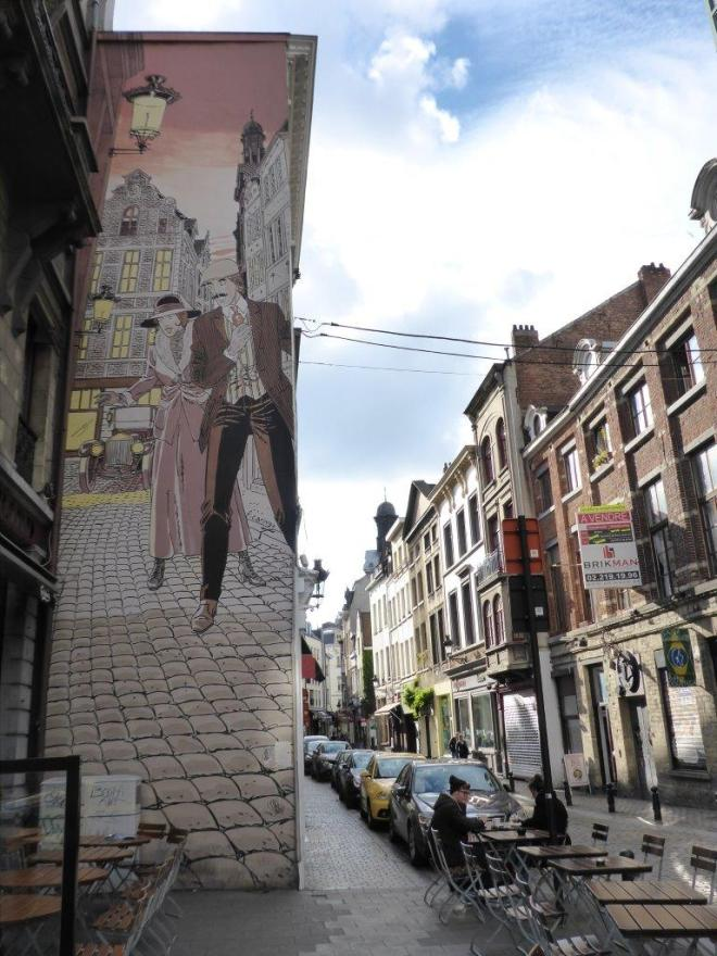 Victor Sackville mural in Brussels, Belgium