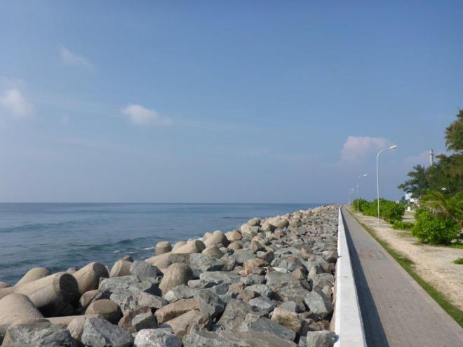 Pedestrian walkway along the sea.