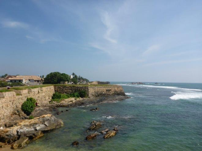Galle fort from the seaside