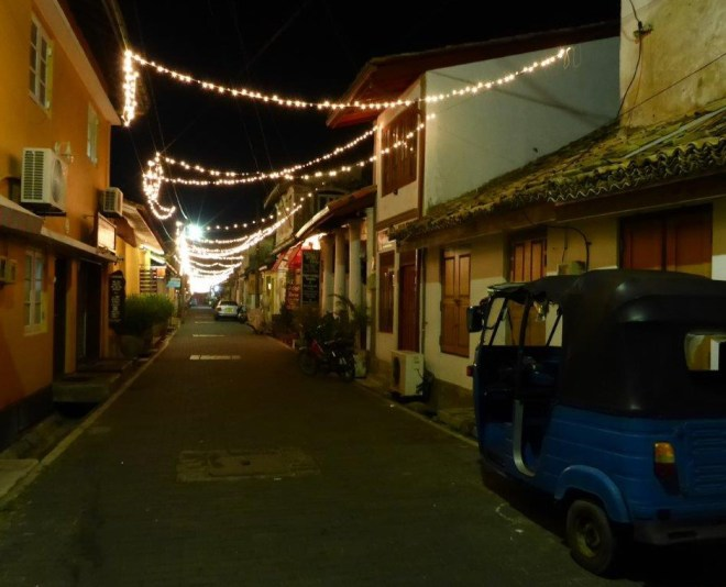 Galle street by night