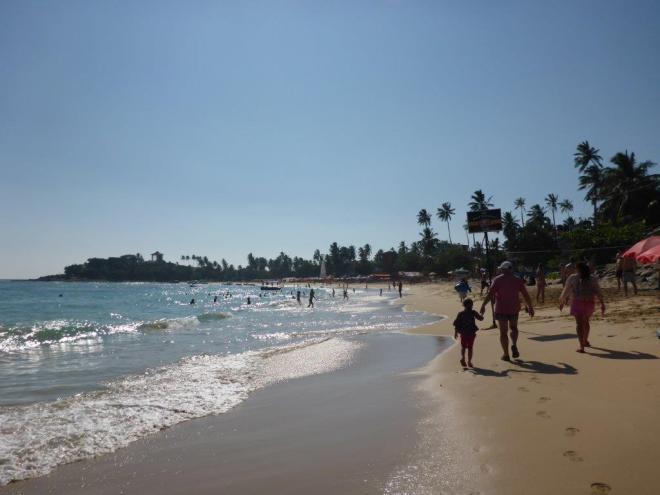 The beach in Unawatuna