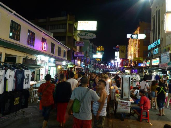 Crowded street in Khao San Road