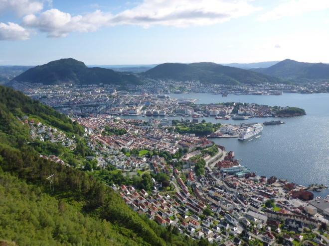 On top of Stoltzekleiven in Bergen