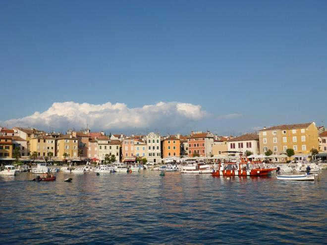 The harbour in Rovinj, Croatia