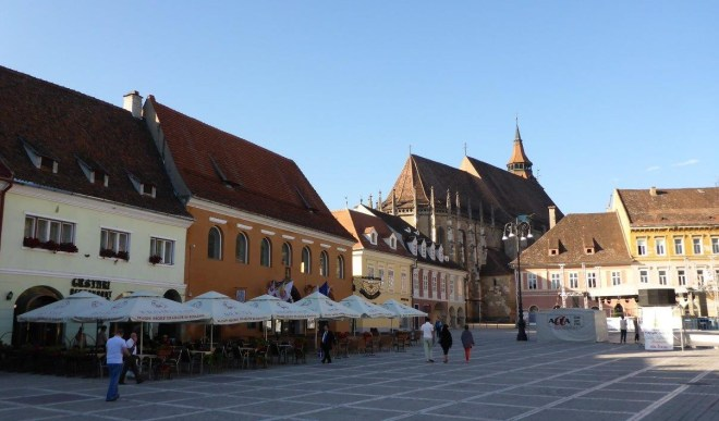 The main square in Brasov old town