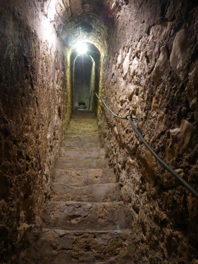 The secret staircase in Bran Castle
