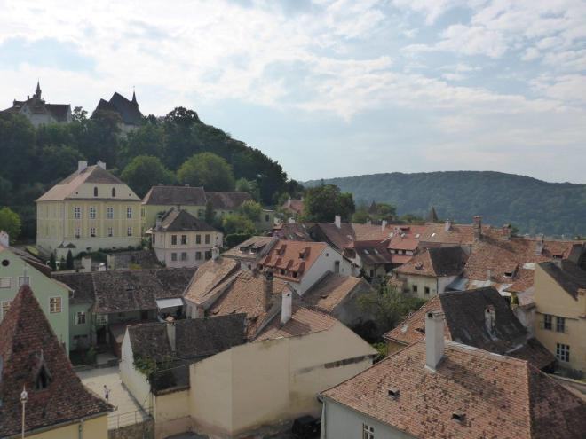 View from the bell tower in Sighisoara, Romania