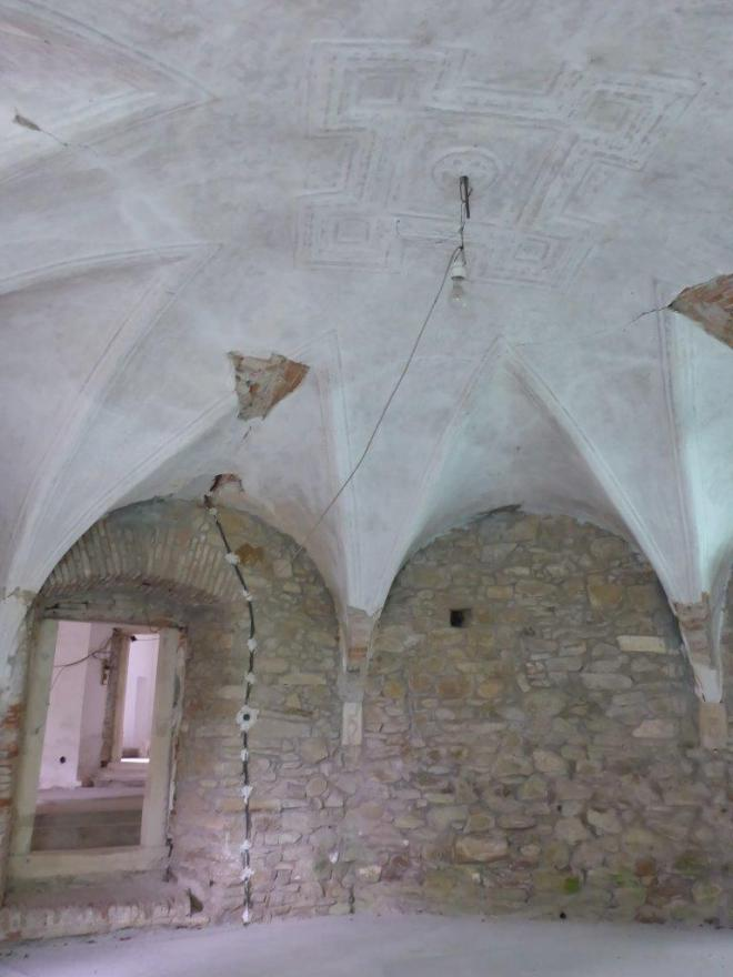 Inside Bethlen castle in Cris