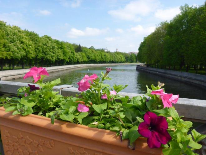 A nice walk along the river in Minsk, Belarus
