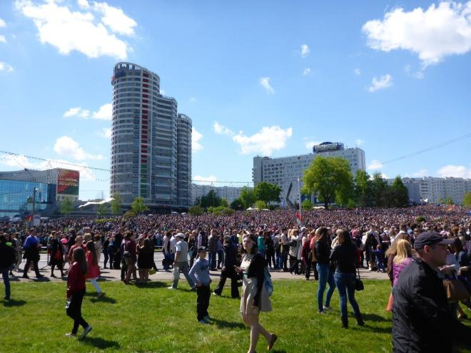 """Victory Day"" in Minsk. There was a huge military parade celebrating 70 years since WW2 ended"