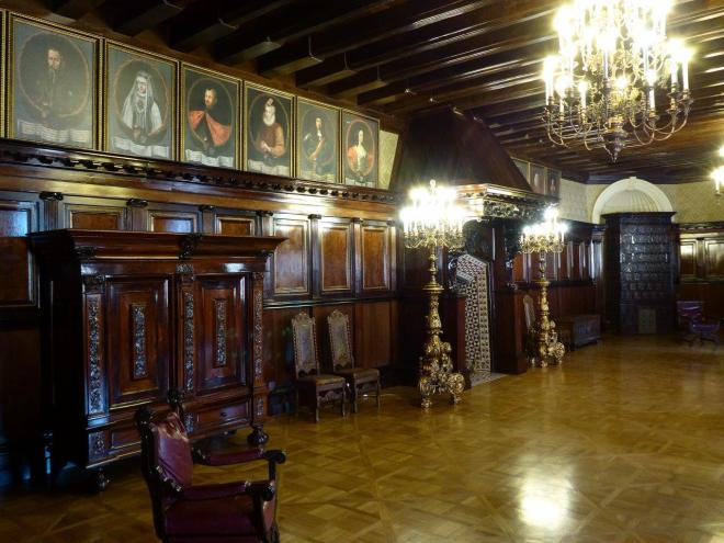 Inside Niasvizh palace in Belarus