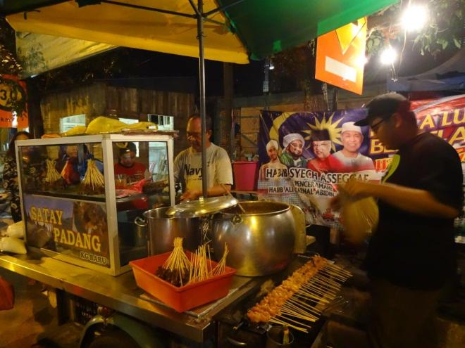 Chicken satay. Food tour in Kuala Lumpur, Malaysia