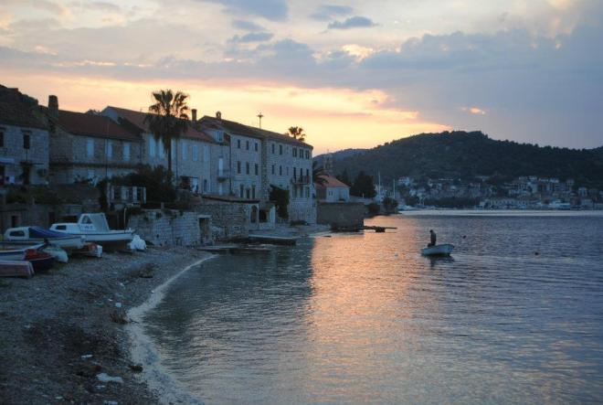 By the waterfront, Vis Island, Croatia
