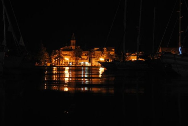 Trogir by night. Croatia