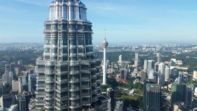 View of Kuala Lumpur seen from Petronas twin Towers, Malaysia