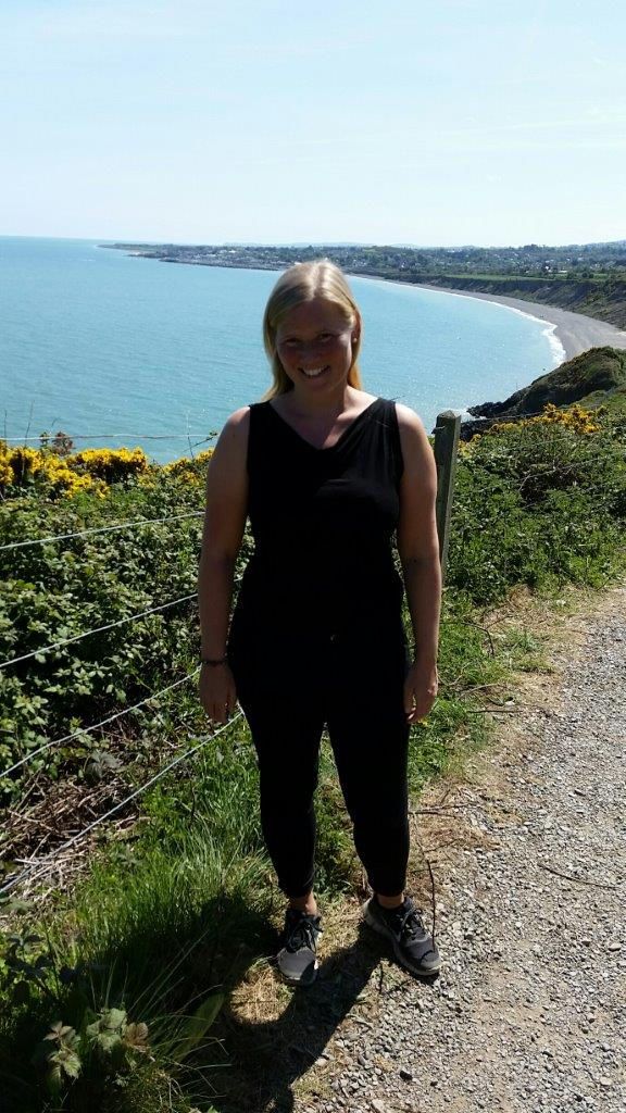 Enjoying the cliff walk between Bray and Greystone outside Dublin, Ireland