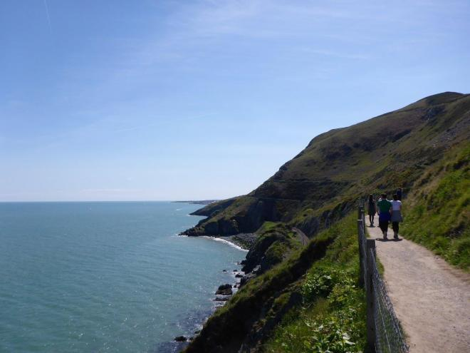 The cliff walk between Bray and Greystone outside Dublin, Ireland