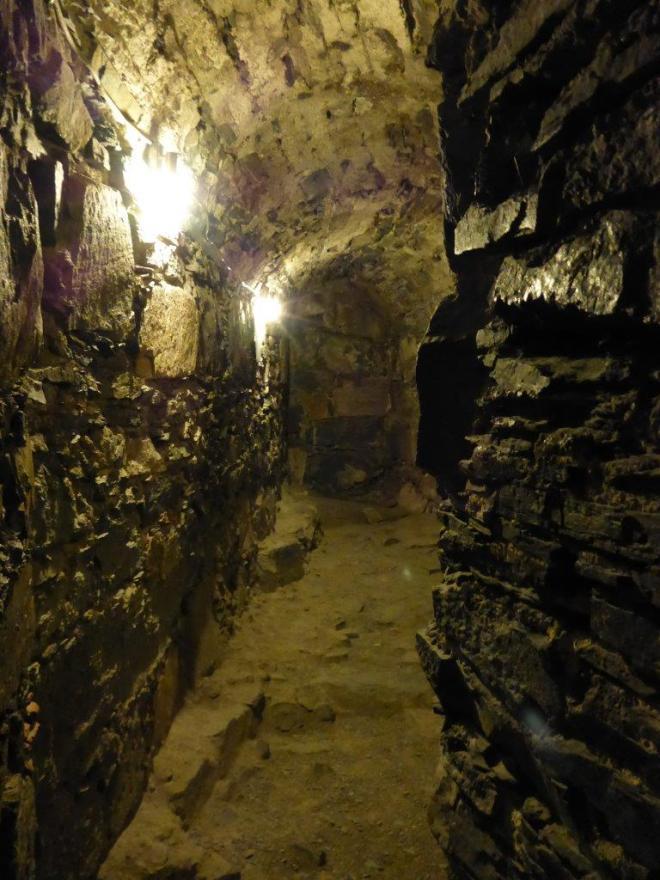 On my way to the dungeon in the Rosenkrantz Tower in Bergen, Norway