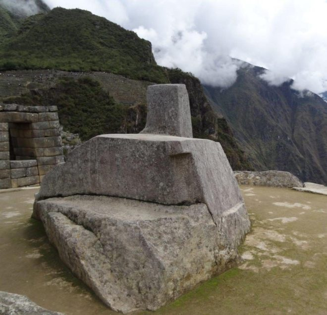 The sun dial, Machu Picchu, Peru