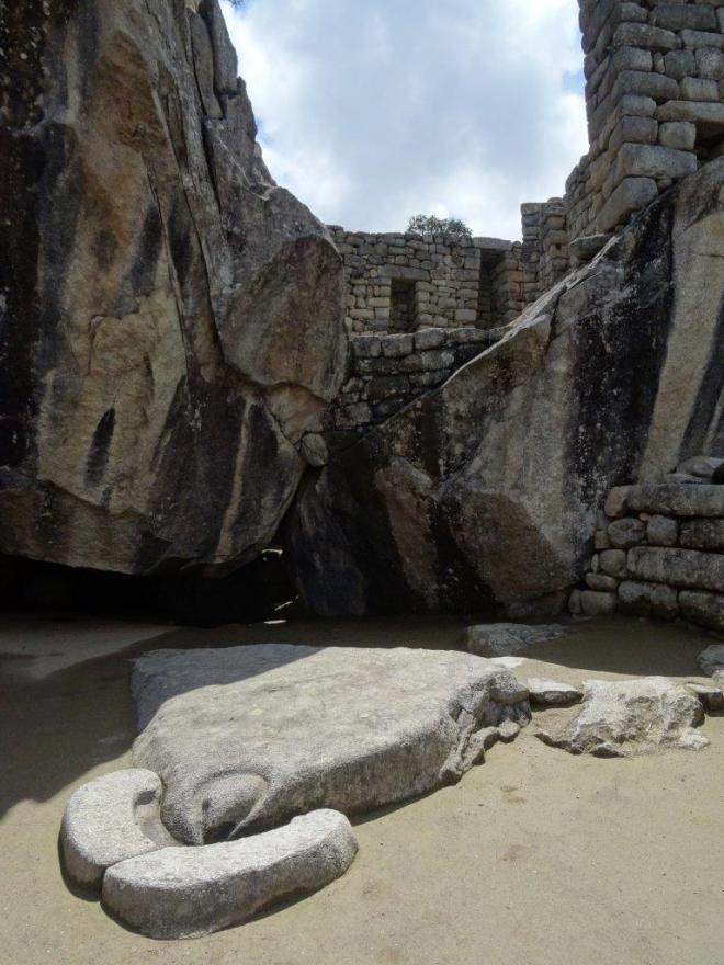 The Temple of the Condor, Machu Picchu, Peru.