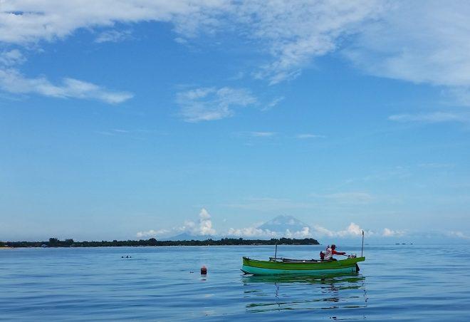 Local fishermen. Gili Meno island, Indonesia