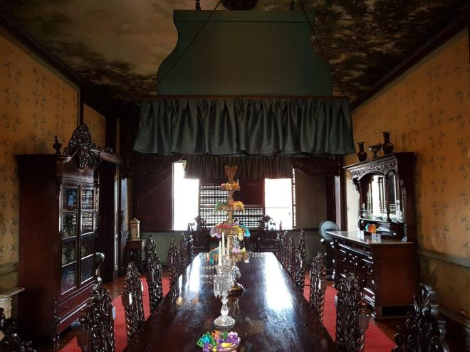 The dining room inside the Manila House in Intramuros. Manila, Philippines