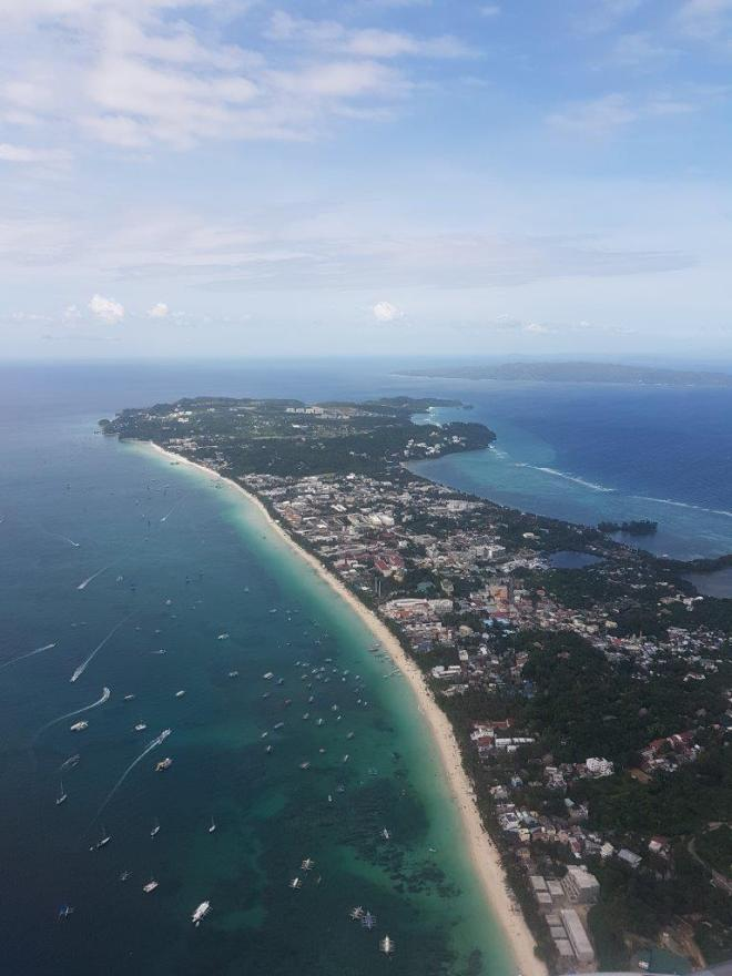 Boracay island seen from above. Philippines.