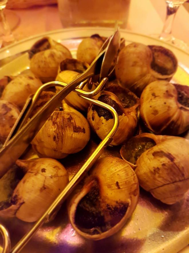 Traditional snails at Ma Bourgogne. Food tour Paris, France. Withlocals