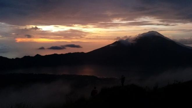 Sunrise at Batur Volcano. Bali, Indonesia.