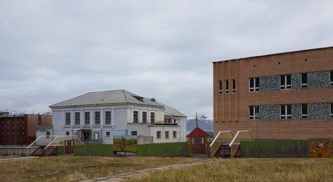The cantina. Pyramiden. Svalbard. Spitsbergen. Norway