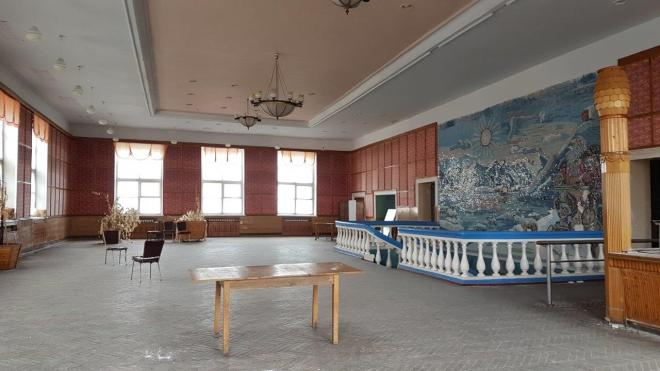 The main room in the cantina. Pyramiden. Svalbard. Spitsbergen. Norway