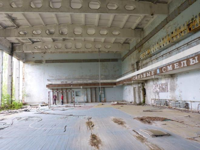The sports hall at the cultural center. Pripyat, Chernobyl, Ukraine