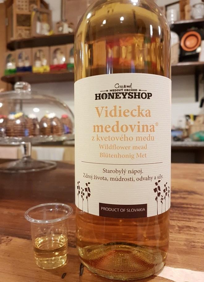 Medovina - honey wine (mead). Food tour in Bratislava, Slovakia.