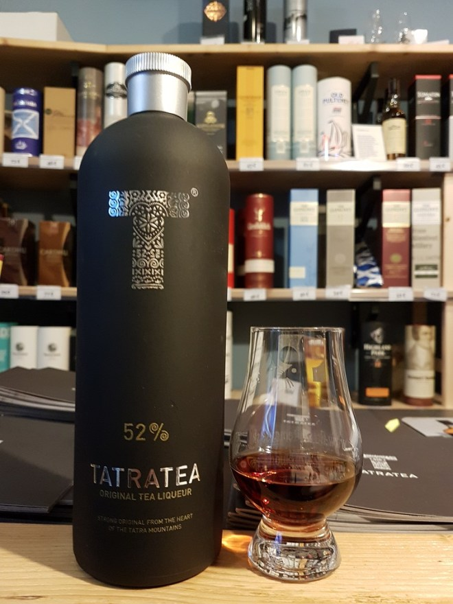 Tatranský čaj - TatraTea - local tea-herbal liquer 52 %. Food tour in Bratislava, Slovakia.