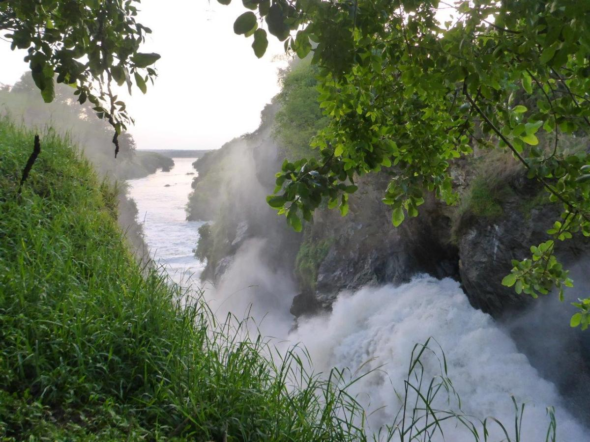 Masses of water at Murchison Falls in Uganda Africa