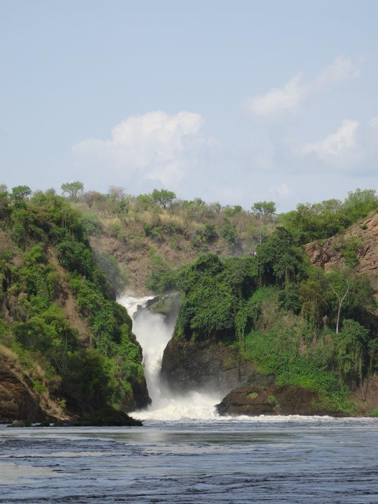 The falls at Murchison Falls National Park in Uganda Africa