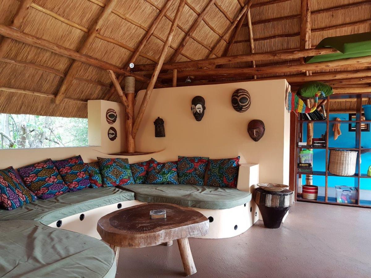 The pool lounge at Murchison River Lodge. Murchison Falls in Uganda Africa