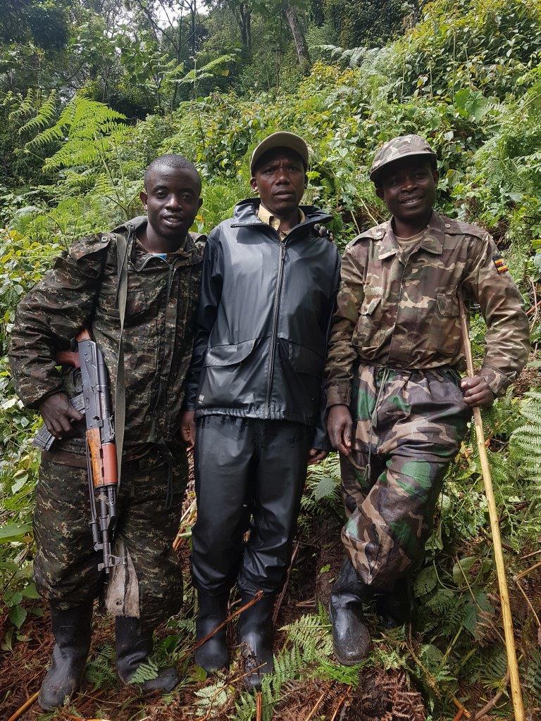 The gorilla trekkers. Gorilla trekking in Bwindi. Ruhija, Uganda.
