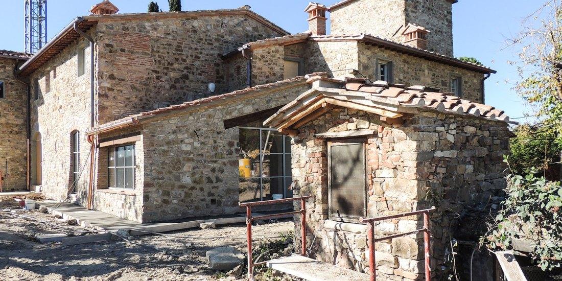 Ristrutturazione di casale nel Chianti